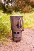 My trusty Alpkit titanium mug and Evernew titanium stove